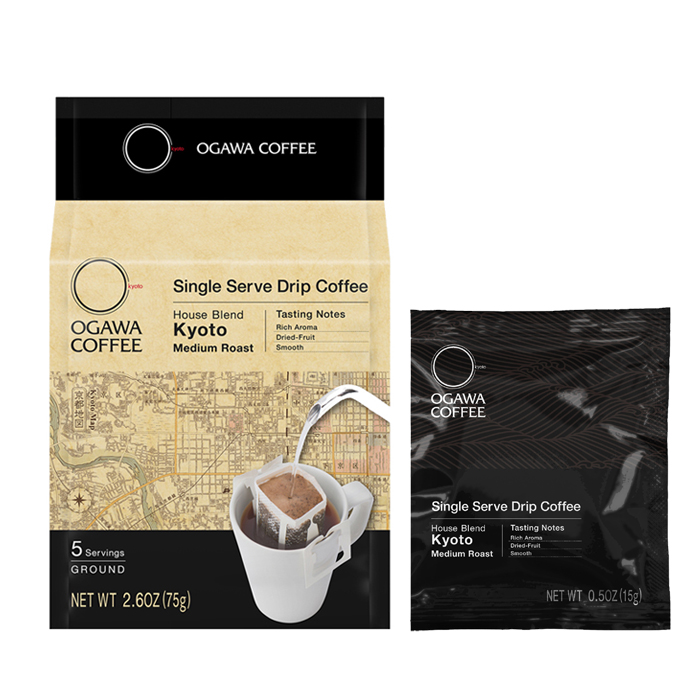 OGAWA COFFEE Single Serve Drip Coffee House Blend Kyoto 5杯分